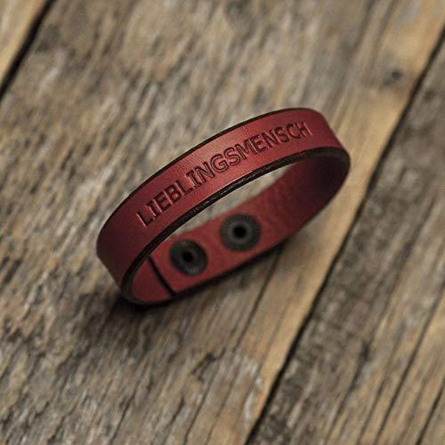 Brazalete personalizada de cuero italiano rojo, grabe su nombre, lema personal, frase inspiradora, coordenadas GPS, fecha, manilla, pulsera