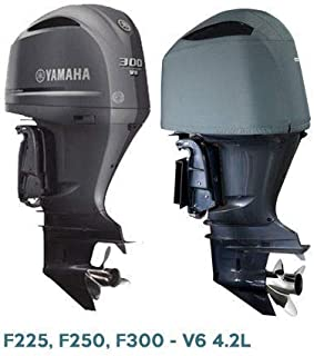 Oceansouth Custom Fit Vented Covers for Yamaha V6 4.2L Outboards F225, F250, F300