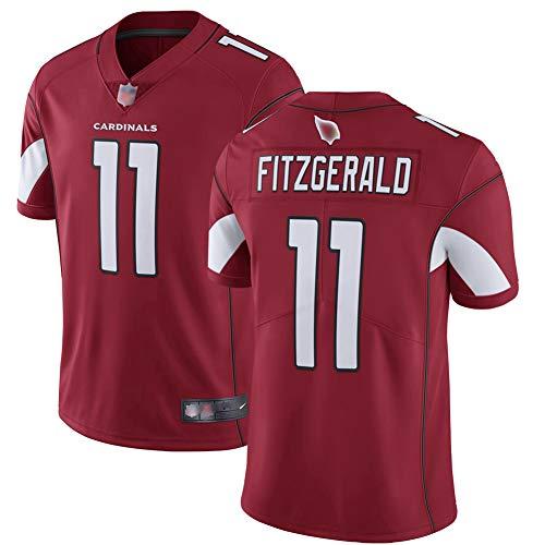 Arizona Cardinals Rugby Männer Jersey Larry Fitzgerald 11# Atmungsaktives V-Hals Fußball Trikot ROT-XXXL