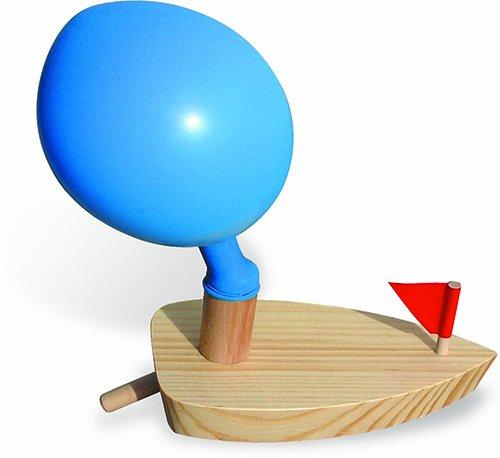 Vilac Mit Ballon betriebenes Holzboot