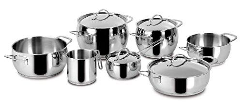 Lagostina - Batterie de cuisine 11 pièces en inox 18/10, Fond induction Lagoseal Plus