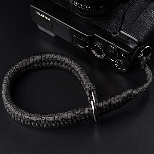 Camera Wrist Strap (550 Paracord/Black) Higher-end and Safer Adjustable Camera Wrist Lanyard, Suitable for Nikon/Canon/Sony/Panasonic/Fujifilm/Olympus DSLR or Mirrorless Camera Hand Strap