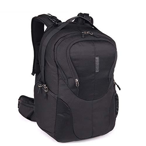 ZZYC Fotorucksack DSLR Kamera Rucksack, für Kamera Zubehör und Outdoor Sport Reise Fashion Fototasche, Mit Zubehörfächern, wasserdicht/sturzsicher/stoßfest,Black-Big