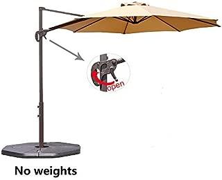 Le Papillon 10 ft Cantilever Umbrella Outdoor Offset Patio Umbrella Easy Open, Tilt & 360 Swivel for Desired Shade All Day