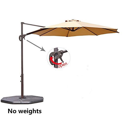 Le Papillon 10 ft Cantilever Umbrella Outdoor Offset Patio Umbrella Easy Open, Tilt & 360 Swivel for...