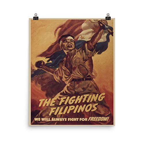 Vintage Poster - The Fighting Filipinos 1215 - Premium Luster Photo Paper Poster (16X20)