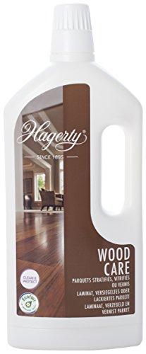 Hagerty Wood Floor Care Holzbodenreiniger 1 Liter I Effektiver Parkett-Reiniger zur Tiefenreinigung und Pflege für alle Holz- Laminat- und Lackböden I Parkett Intensivreiniger mit Anti-Rutsch Effekt
