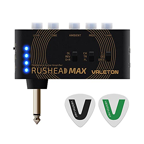 VALETON Guitar Headphone Amplifier Multi Effects Pocket Rechargeable Rushead Max Mini Practice Amplifier