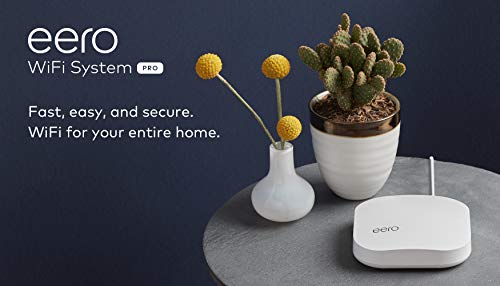 Amazon eero Pro mesh WiFi system (1 Pro + 2 Beacons) 28 Whole-home WiFi system - The Amazon eero Pro mesh WiFi system (3 eero Pros) replaces the traditional WiFi router, WiFi extender, and internet booster by covering a 5+ bedroom home with fast and reliable internet powered by a mesh network. eero 2nd generation - With the most intelligent mesh WiFi technology and powerful hardware, the eero 2nd generation WiFi system is 2x as fast as the original eero WiFi. Backwards compatible with 1st generation eero products. Cutting edge home WiFi - Unlike the common internet routers and wireless access points, eero automatically updates once a month, always keeping your home WiFi system on the cutting edge.