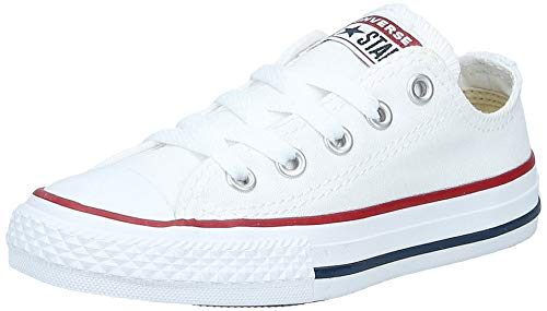 Converse Unisex-Child Chuck Taylor All Star Low Top Sneaker, optical white, 9 M US Toddler