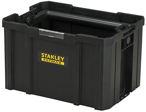 Stanley FMST1-75794 FatMax Pro-Stack Werkzeugtrage (27 Liter, zum Verstauen und Transportieren von Werkzeug, mit ergonomischem und klappbarem Handgriff, geräumige und leicht zugängliche Konstruktion