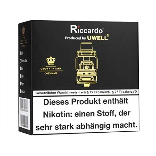 Uwell Crown 4 Clearomizer 5 ml / 6 ml, Durchmesser 28 mm, Riccardo Verdampfer für e-Zigarette, grün
