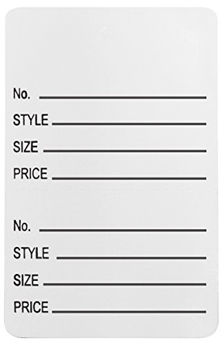 Amram Price Tags 1.25-in x 1.875-in Unstrung Perforated, White, Printed No; Style; Size; Price, 1,000 Tags