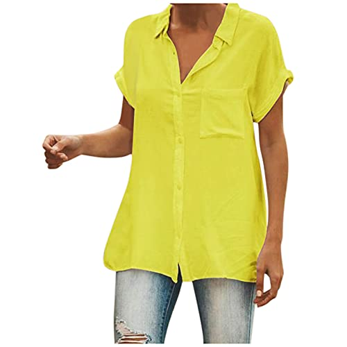 Women Cardigan Summer Casual Cropped Shrug Cardigans Uk Sale Ladies Casual Stand-Up Collar Short-Sleeved Button-Pull Sleeve Shirt Solid Color Summer Blouses Elegant Upgrade Tunic Pullover Top
