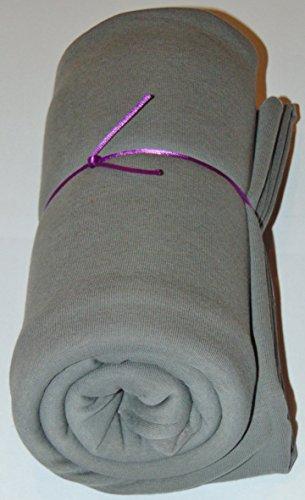 Mamadu Super Sweat Uni grau (Sweatshirt-, Jogging-, Stoff) Meterware in vielen Farben, ab 50cm Zuschnitt