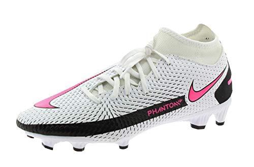Nike Phantom GT Academy DF FG/MG, Football Shoe Unisex-Adult, White/Pink Blast-Black, 39 EU