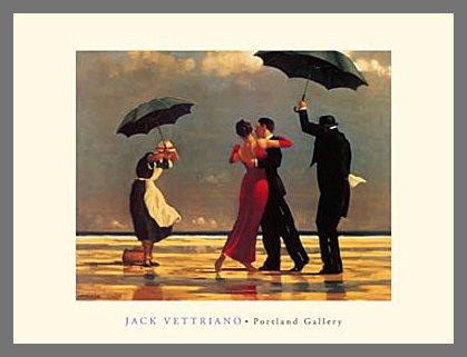 Germanposters Jack Vettriano The Singing Butler Poster Kunstdruck Bild mit Alu Rahmen in Champagne 46x56cm