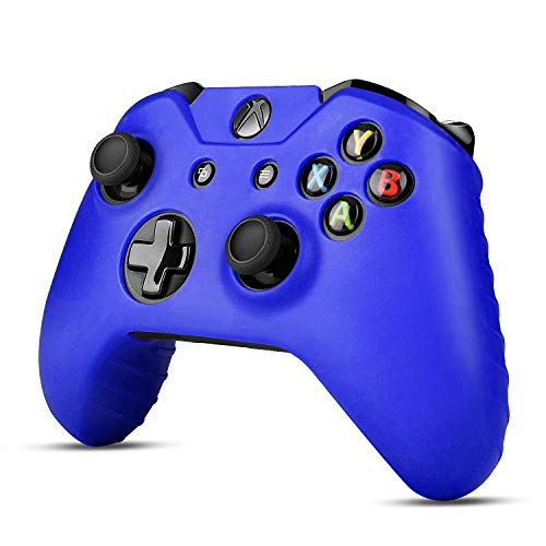 TNP Xbox One Controller Case (Navy Blue) - Soft Silicone Gel Rubber Grip Case Protective Cover Skin for Xbox One Wireless Game Gaming Gamepad Controllers [Xbox One]
