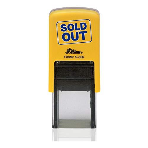IMPACT2PRINT Shiny 520 OK Texto Auto entintado Redondo Mini sello Sellos comerciales personalizados Oficina Papelería