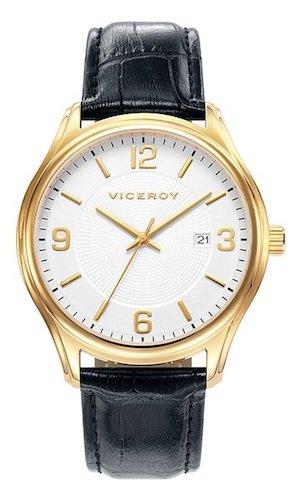 Viceroy Reloj Analógico para Hombre de Cuarzo con Correa en Cuero 401035-95