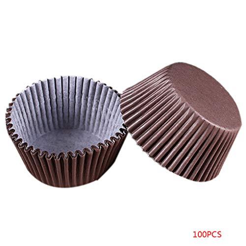Floridivy 100 Stks Kleurrijke Cupcake Papier Stand Oliebestendige Muffin Liner Cup Cake Wrappers Bakgereedschap