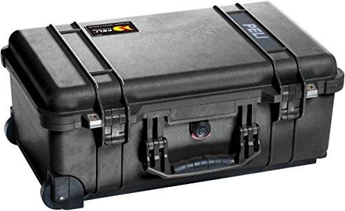 Peli 1510 - Maleta para cámara con espuma protectora y ruedas, negro