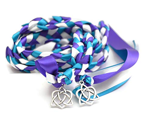 Divinity Braid Peacock Celtic Heart Knot Wedding Hand fasting Cord Divinity Braid Celtic Knot