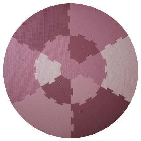Sebra Interior for Kids Krabbeldecke Spielmatte Isoliermatte Puzzlematte für Mädchen vintage rose pink 122 cm