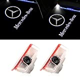 2 Pack Car Door Logo Light Projectro Welcome Lights, Car Door Ghost Shadow Courtesy Light Accessories for A, B, C, E, GLC Series
