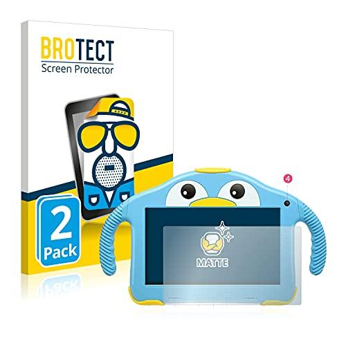 BROTECT Protector Pantalla Anti-Reflejos Compatible con Yenock MID-1013 Kids Tablet 7' (2 Unidades) Película Mate Anti-Huellas