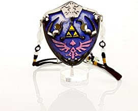 6 Hole The Hylian Shield Pendant Ocarina by Songbird – Inspired by the Legend of Zelda - Soprano G- Triforce – Link- Ceramic -Comes in a Display Box with metallic clasp– Beaded Strap – Free Tutorial & Songbook Included