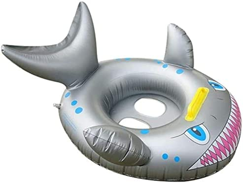 TRYING Baby Bath Seat Nippon regular agency Some reservation Swimming Shark Silver Floats PVC Pool