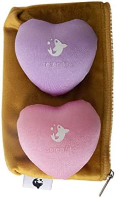 2 Pack Heart Shaped Stress Balls with Luxury Velvet Carry Bag Hand Therapy Mobility Restoration product image