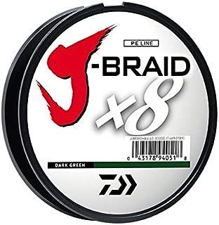Daiwa JBGD8U30-300DG J-Braid Grand 8X Filler Spool 300yds 30 lb. Test Fishing Line, Dark Green