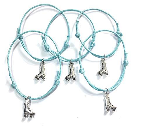 FizzyButton Geschenken Set van 5 Rolschaatsen Verstelbare Turquoise Koord Armbanden