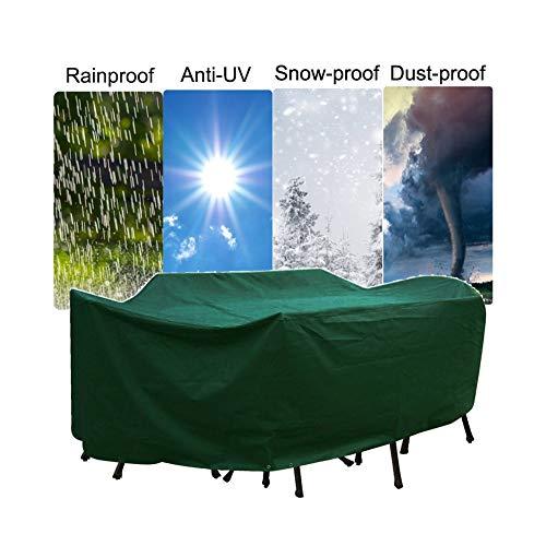 LJIANW Funda Protectora Muebles Jardín, Funda Protectora Muebles Jardín Rota Rectangular Cubiertas Al aire libre Tarea pesada Tela oxford Patio Impermeable A prueba de viento Anti-UV Cubiertas de mesa