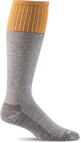 Sockwell Men's Bart Moderate Graduated Compression Sock, Charcoal - L/XL