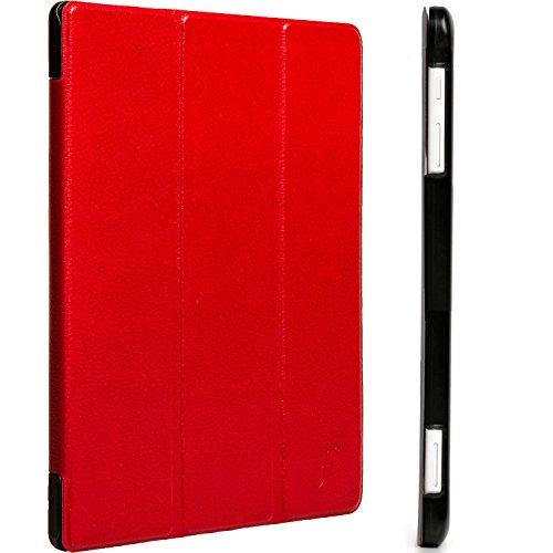 Forefront Cases® Huawei MediaPad T2 10.0 Pro Hülle Schutzhülle Tasche Smart Case Cover Stand - Ultra Dünn mit Rundum-Geräteschutz und intelligente Auto Schlaf/Wach Funktion - inkl. Eingabestift (ROT) - 5