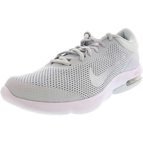 Nike Men's Air Max Advantage Pure Platinum/White Wolf Grey Ankle-High Running - 9.5M