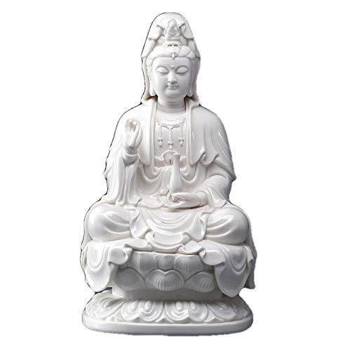 Escultura Decoración Estatuas Figuritas Escultura Figuritas Decorativas Estatuas Bodhisattva Estatua De Cerámica De La Diosa De La Misericordia Guanyin Escultura De Buda Avalokitesvara Budismo De