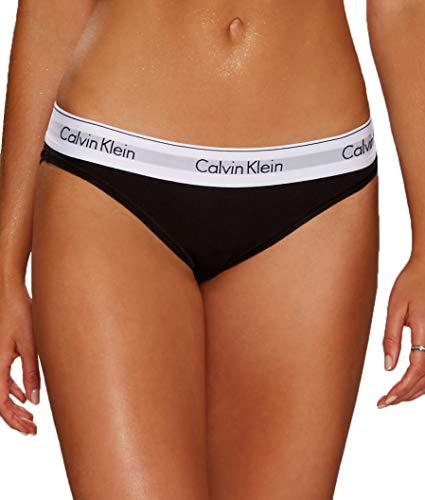 Calvin Klein Modern Cotton Bikini Panty Ropa Interior, Negro, XS para Mujer
