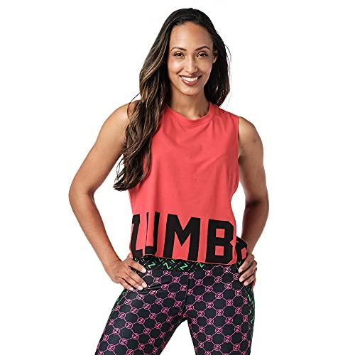 Zumba Camiseta sin mangas corta para mujer - rojo - Medium