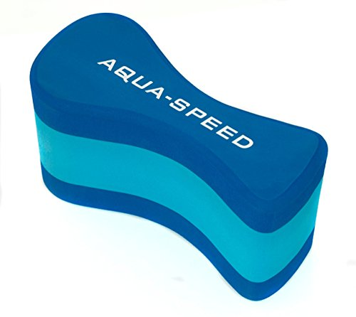 Aqua Speed Pull Buoy Pull Buoy Aiuto al galleggiamento   Design Curvo   3 Strati   Nuoto Formazione   Schiuma Eva   Blu-Luce Blu