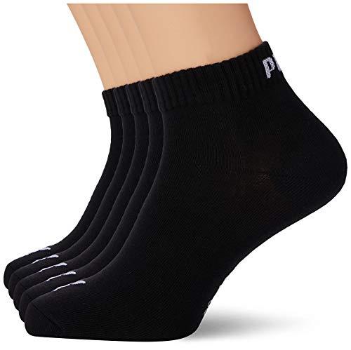 PUMA Quarter Plain Socks (5 Pack) Calcetines, Negro, 39-42 (Pack de 5) Unisex Adulto