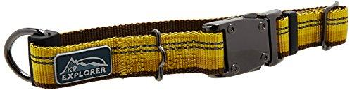 K9 Explorer Reflective Dog Collar Medium Goldenrod