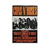 ERTEF Guns N Roses Poster 3 Leinwand-Kunst-Poster und