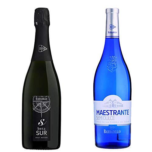 Beta Sur y Maestrante Semidulce - Vinos de la Tierra de Cádiz - Bodegas Barbadillo - 2 botellas de 750 ml