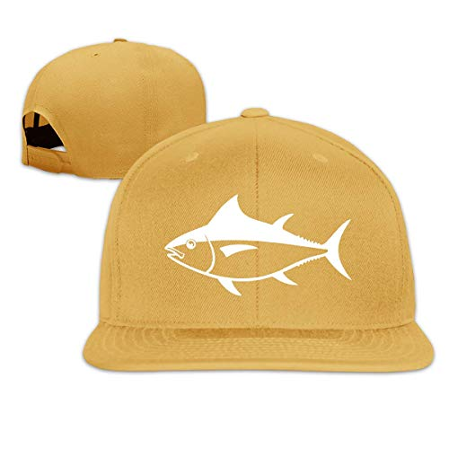 Lsjuee Gorra de Camionero Unisex, Vintage Tuna Fish Ajustable Hip Hop FlatbrimHat