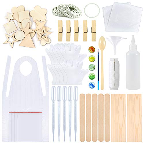 Sntieecr 174 Pieces Tie Dye Kit, T-Shirt Fabric Tie-dye Tools Kits with 9 Sizes Wood Chips, Rubber Bands, Gloves, Sealed Bags, Squeeze Bottles, Aprons and Tools for Kids Adult Party Groups