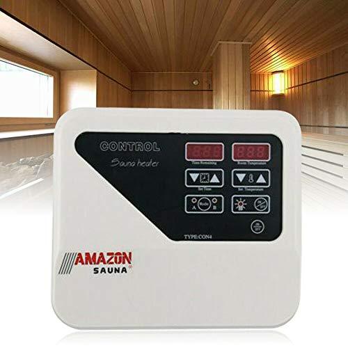 Saunasteuerung, 3-9KW Saunasteuergerät mit Temperaturfühler, Saunaraum Saunatechnik für Hause Saunaraum und Kommerzielle Anlässe Externe Steuerung Überhitzungsschutz